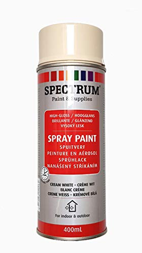 Lackspray Sprühlack Lackfarbe Acryllack 400 ml Creme Weiss, Weiss Creme,cremeweiss