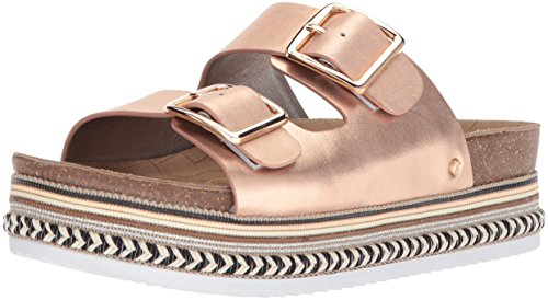 Sam Edelman - Oakley para Mujer, (Blush Gold/Metallic Leather), 8 B(M) US