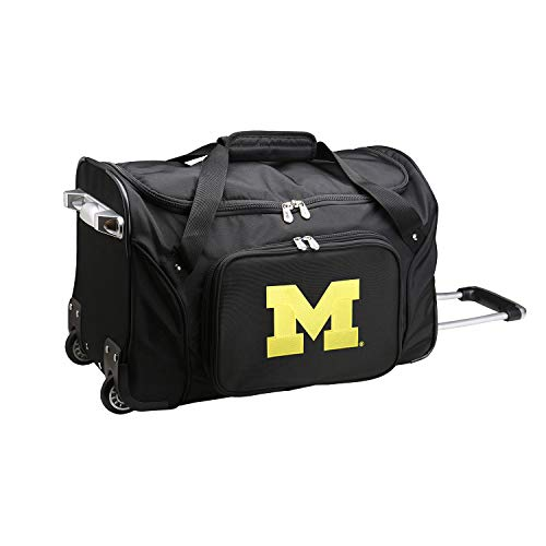 NCAA Michigan Wolverines Wheeled Duffel Bag, 22-inches, CLMCL401