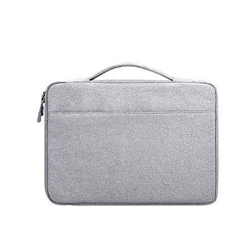 Kecream Unisex Laptop Tasche Liner Bag Oxford Tuch Wasserdicht Notebook Handtasche für 13.3 14.1 15.4 15.6 Zoll iPad Tablet Laptop, hellgrau (Grau) - MRE7SWQTKK