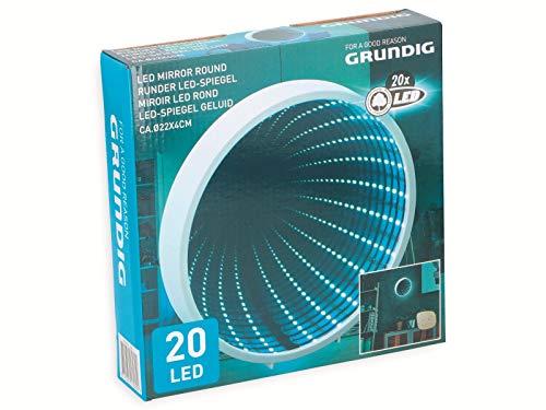Grundig 3D Endlos-Spiegel LED Tunnel-Licht Effekt-Spiegel Kosmetikspiegel 22cm