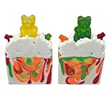 Gummy Bears Soap Bar 2 Pack 4.5oz Bars of Soap Fun and Unique Gift