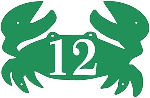Crab Address Plaque - Unique Number House Li Max 65% OFF Shaped Sign Many popular brands