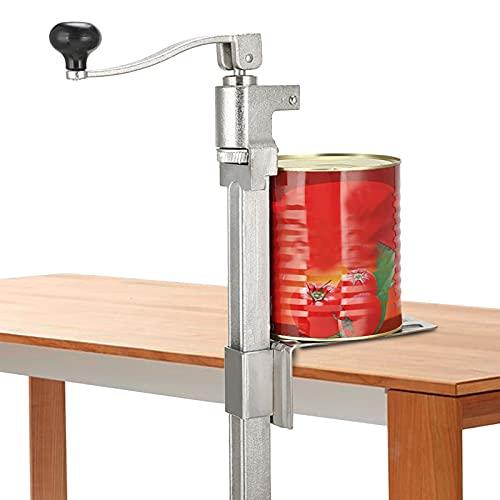 Apriscatole manuale, apriscatole da tavolo manuale, grande per uso intensivo, per ristoranti e cucine