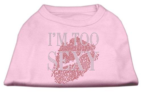 Mirage huisdier producten ik ben te sexy strass huisdier shirt, Medium, Lichtroze