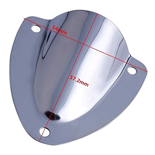 Hoffen 2 Pcs Marine Stainless Steel Clam Shell Vent Wire Cover Clam Shell Ventilation for Boat Yacht