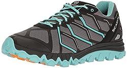 small SCARPA SCAPRA Ladies Proton GTX WMN Trail Running Shoes Runner, Gray / Sky, 39 EU / 7.5 M US