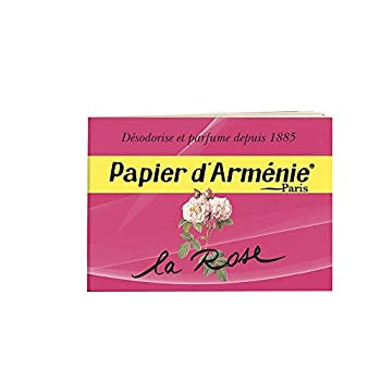 Papier d Armenie La Rose Burning Papers  1 Book of 12 Sheets