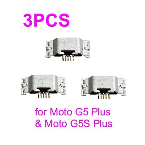 PHONSUN USB Charging Port for Motorola Moto G5 Plus XT1684 XT1685 XT1687 & Moto G5S Plus XT1803 XT1805 XT1806 (Pack of 3)