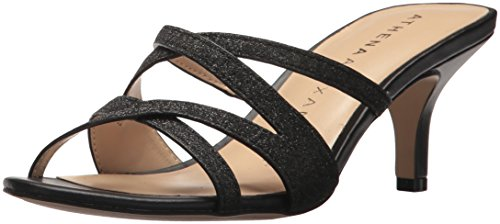 Athena Alexander Women's Starlight Heeled Sandal, Black, 10 M US