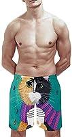猫柄 かわいい猫 ビーチパンツ メンズ ショートパンツ サーフパンツ 水着 旅行 おしゃれ 海パン サーフトランクス 人気 スイムパンツ 水陸両用 5分丈 ミドル丈 短パン スポーツ カジュアル 夏