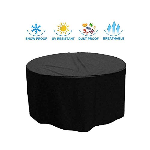 ASDFGHT Cube Garden Furniture Covers Waterproof Durable Patio Rattan Table Protective Tarpaulin, Custom Size (Color : Black, Size : 200x90cm)