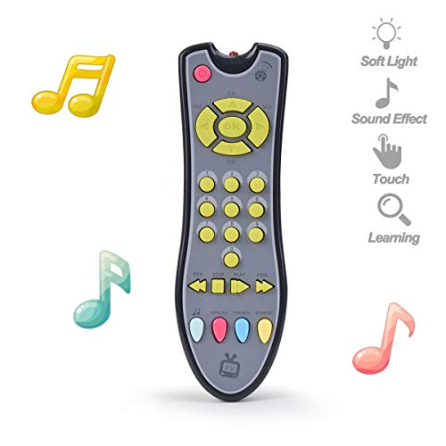 NUOEY Kids Musical TV Remote Control Toy with Light and Sound, Early Education Learning Remote Toy for 6 Months+ Toddlers Boys or Girls