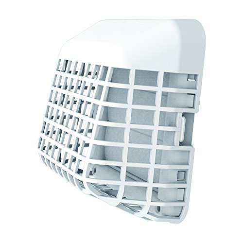 Deflecto Easy Clean Louvered Dryer Hood with Bird Guard, 4 Inches Hood, White (GH4WEC/2)