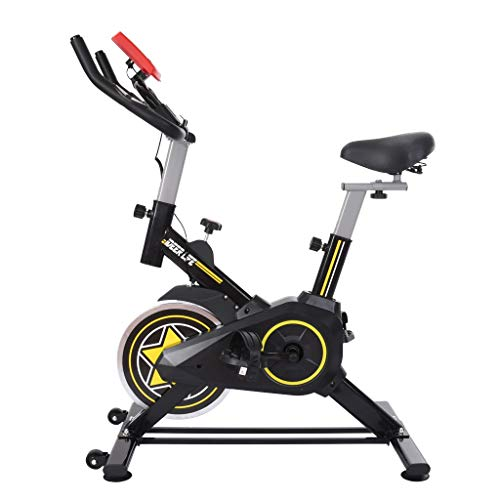 N/J Cross-Border Silent Spinning Bike Stationary Indoor Bicycle with Tablet Stand and Comfortable Cushion Bike