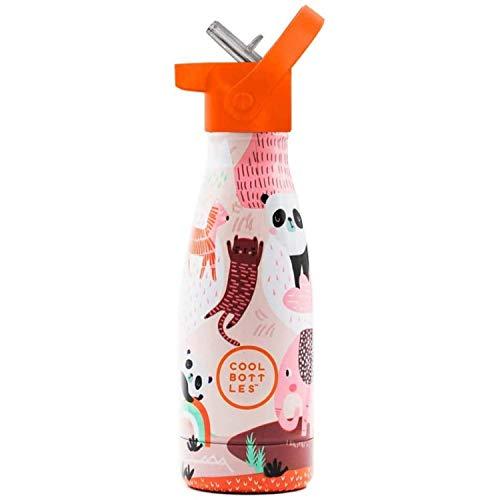 Botella de Agua de Acero Inoxidable para Niños | 260 ml | Botella Térmica | Bebidas Frías Durante 24 Horas y Calientes hasta 12 Horas | Aislamiento de Doble Pared | Libre de BPA