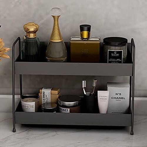 LANL Gran capacidad doble estante de almacenamiento de artículos cosméticos organizador caja de perfume estante de exhibición de la cocina baño joyería soporte de San Valentín