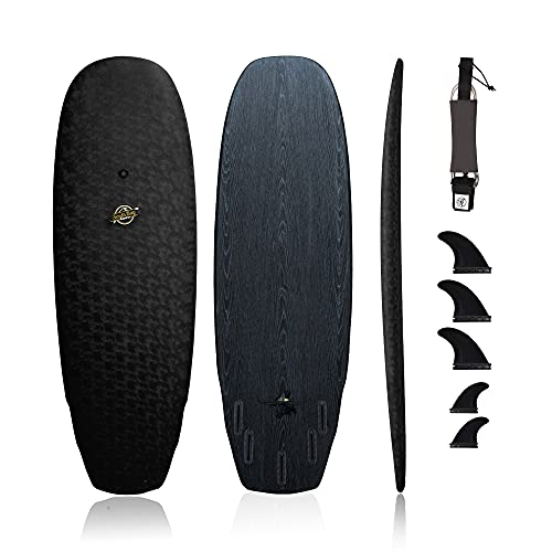 South Bay Board Co. - 6' Hybrid Surfboard - Wax-Free Textured Soft-Top Foam Deck & 6oz Fiberglass...