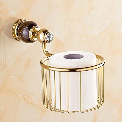Toilettenpapierhalter Natürliche Jade Papierhandtuch Kupfer Marmor Or Papierhandtuch Korb Marmor