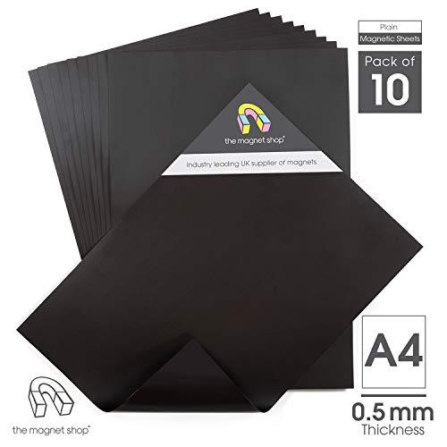 The Magnet Shop A4 Magnetplatten als einfache Aufbewahrungslösung & zum Basteln - 0.5mm dick, 10er Set