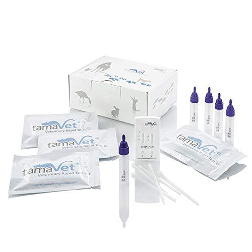 tamaVet® Multi 2TD Schnelltest Giardia und Cryptosporidium parvum - 5 Tests zum Nachweis von Giardien und Crypto für Hund und Katze