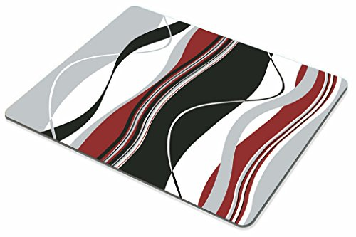 Smooffly Mouse pad Wavy Vertical Stripes Red Black White and Grey Personality Desings Gaming Mouse Pad Photo #3