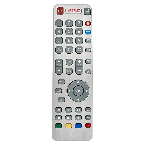 VINABTY SHWRMC0116 RF Remote Control fit for Sharp Aquos UHD 4K LED Smart 3D TVs with NETFLIX NET+ YouTube Buttons