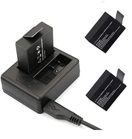 Theoutlettablet® Cargador Doble externo para cámara deportiva DV SJCAM SJ4000 SJ5000 Sport Cam -...