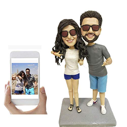 Fully Custom Lovers Bobblehead Personalized Couple Figurine, Two People,DHL Expedited Shipping...