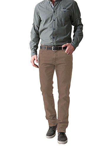 STOOKER - Herren 5-Pocket Jeans Denim Stretch Hose, Frisco (5190) - Cognac/Braun (32/32)