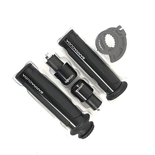7/8'22mm Universal Road & Racing CNC Aluminio para Barracuda Motorcycle Manill Bar Gorras/Publicaciones de manillar para NC700 S/X (Color : Black)
