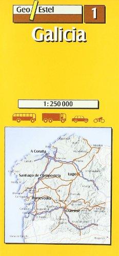Galicia: Galicia Road Map 1:250, 000 (Mapas de carreteras. Comunidades autónomas y regio)