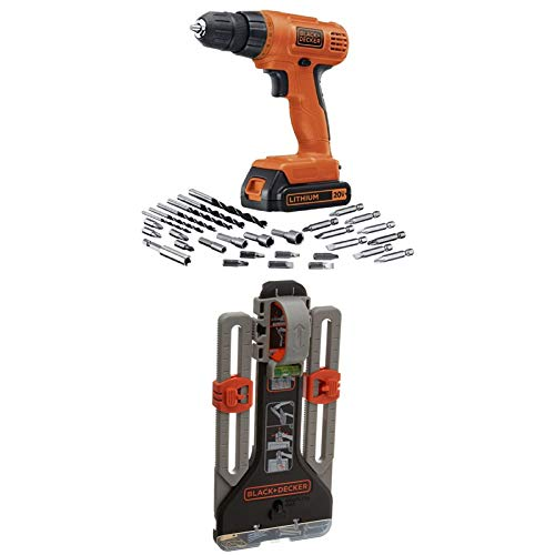 BLACK+DECKER LD120VA 20-Volt Max Lithium Drill/Driver with 30 Accessories and MarkIT Picture Hanging Tool Kit