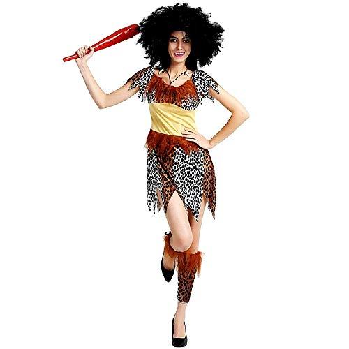 KIRALOVE Pri08 - Disfraz de Hombre de Las cavernas primitivo - Hombres de Las cavernas - Picapiedra - Disfraces - Halloween - Carnaval - Accesorios - Talla única - Adultos - Idea de Regalo Cosplay