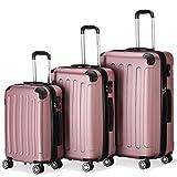 Flexot 2045 3er Reisekoffer Set - Farbe Rosa (Pink) Größe M L XL