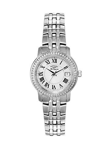 Rotary Les Originales LB90090/41 - Reloj para Mujeres, Correa de Acero Inoxidable Color Plateado