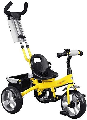 Xiaoyue Fahrräder Kinderwagen Kinderfahrrad Kinder Dreirad Fahrrad 3~9 Jahre alt Kinder Tricycle Indoor Heimtrainer (Farbe: Gelb, Größe: 76x43x59cm) lalay (Color : Yellow, Size : 76x43x59cm)