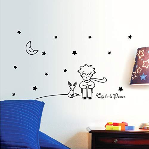 Conte de fées Le Petit Prince Avec Fox Moon Étoile Home Decor Sticker Mural Pour Chambres D'enfants Bébé Enfant Cadeau D'anniversaire Jouet