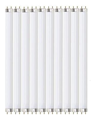 """Pack of 10 F32T8/841 32 watt 48"""" Straight F32 T8 Medium Bi-Pin (G13) Base, 4,100K Cool White Octron Fluorescent Tube Light Bulb"""