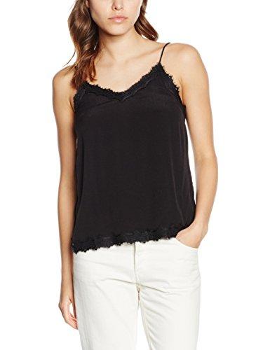 New Look Lace Neckline Camiseta sin Mangas, Negro (Black), 42 para Mujer