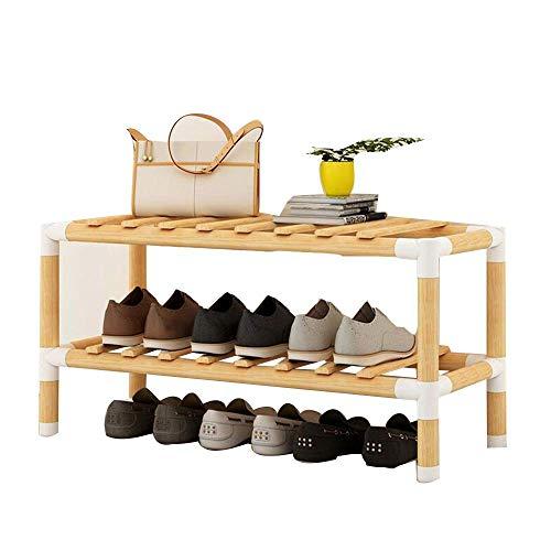 ZAIHW Zapatero Caja de Zapatos Estante de Almacenamiento multifunción de Madera Maciza Estante de ensamblaje doméstico de múltiples Capas