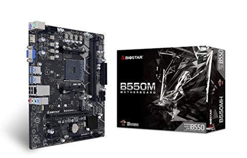 BIOSTAR B550MH AM4 AMD/B550/mATX/PCIe 4.0/DDR4/M.2/SATA 6Gb/s/USB 3.2 Gen 1/Realtek RTL8111H/HDMI 4K/Gaming Motherboard