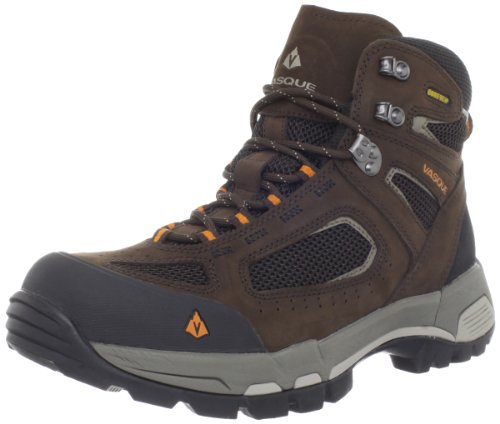 Hot Sale Vasque Men's Breeze 2.0 GTX Waterproof Hiking Boot,Slate Brown/Russet Orange,8.5 W US