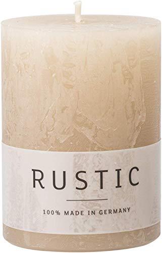 Rustic Kerze (Safe Candle/selbstverlöschend), 4 Stück, Höhe 8 cm / Ø 6 cm, 25 Std. Brenndauer (Sahara)