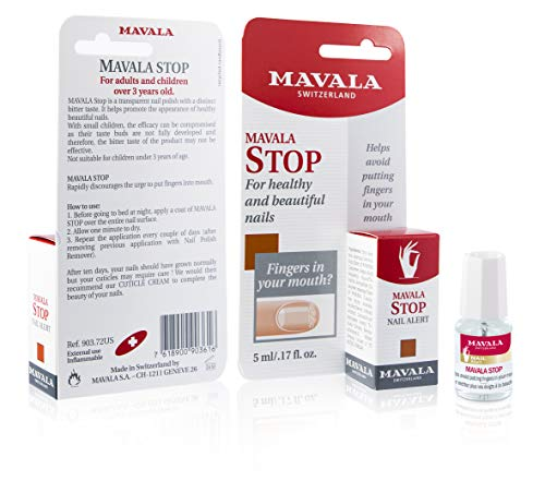 Mavala Stop Deterrent Nail Polish Treatment | Nail Care to Help Stop Putting Fingers In Your Mouth | For Ages 3+ | 0.17 oz