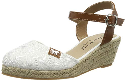 MUSTANG Damen 1066-910-1 Geschlossene Sandalen, Weiß (Weiß 1), 39 EU
