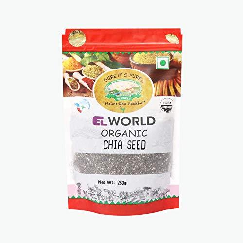 Elworld Agro & Organic Chia Seeds 250 Grams