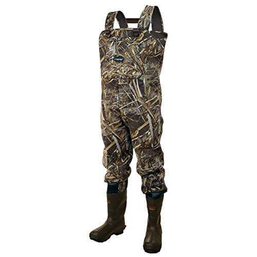 FROGG TOGGS Amphib Neoprene Bootfoot Camo Chest Wader, Cleated Outsole, Realtree Max5, Size 10 (271365)