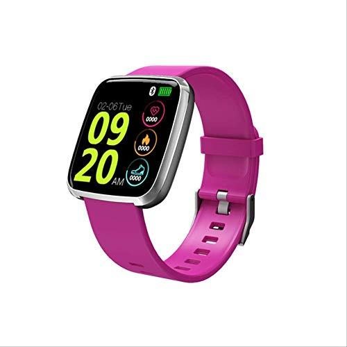 XYQY Smart Watch Männer wasserdichtblutdrucksbige Touchscreen Smartwatch Frauen Herzfrequenz Sport Fitness Tracker Uhr tragbar Silikon Lila
