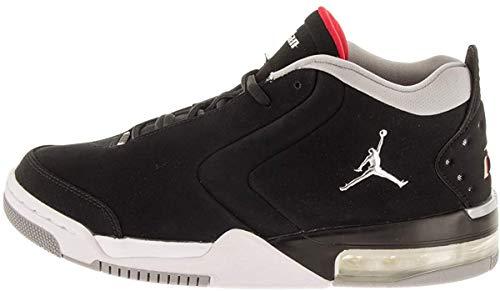 Jordan BV6273-001: Men's Black/Metallic Silver/White Big Fund Sneakers (10.5 D(M) US Men)